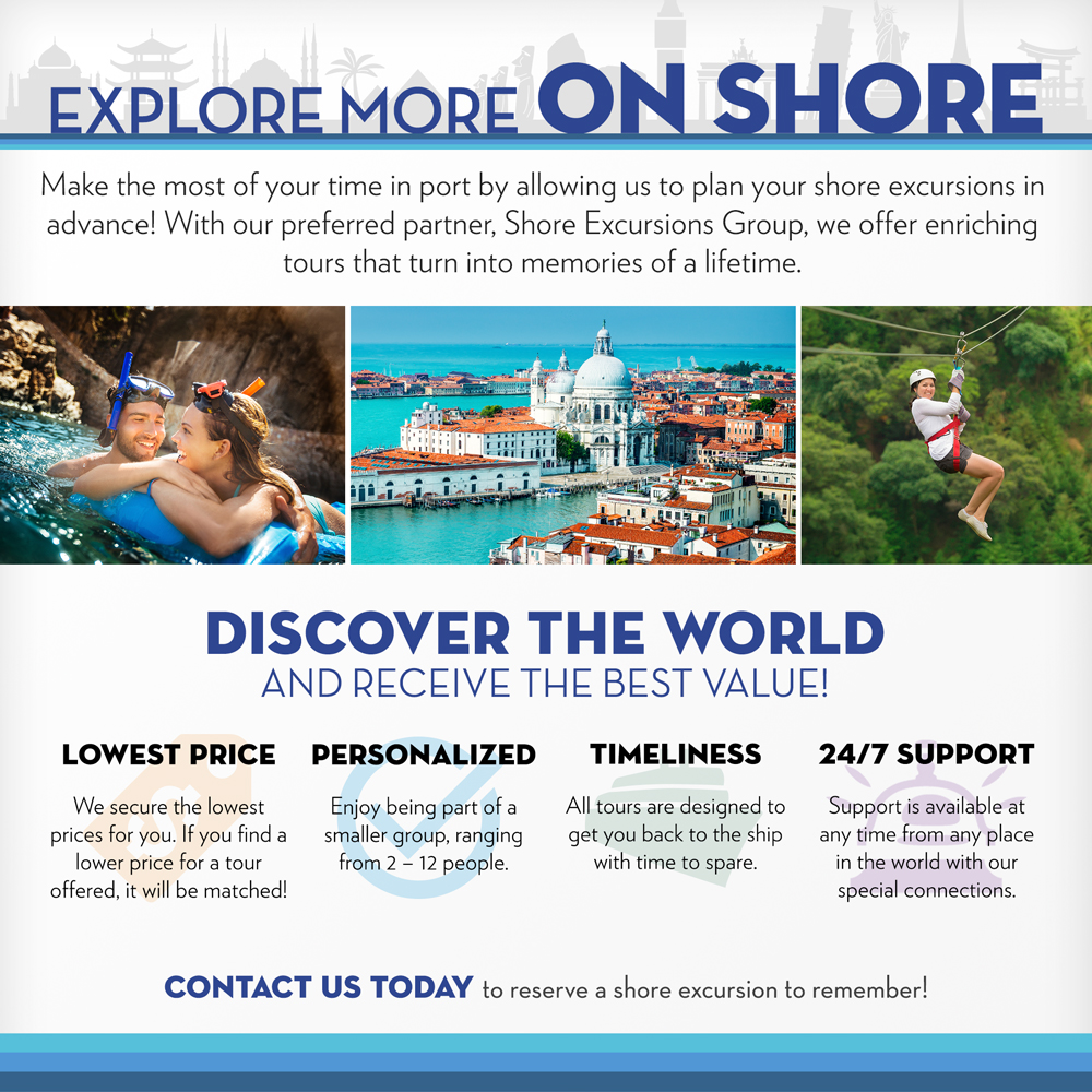 shore excursions group infographic
